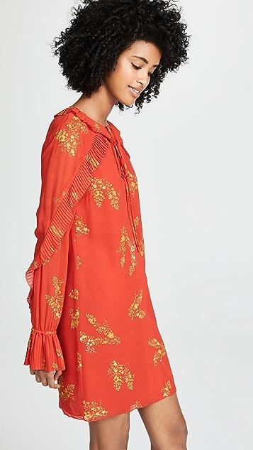 Derek Lam 10 Crosby Long Sleeve Pleated Dress