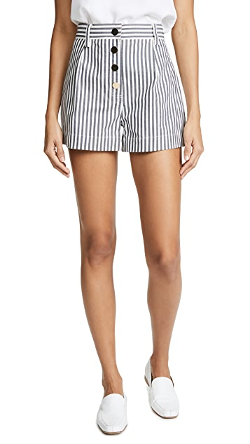 Derek Lam 10 Crosby Belted A Line Shorts