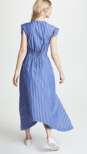 Derek Lam 10 Crosby Ruched Bodice Maxi Dress