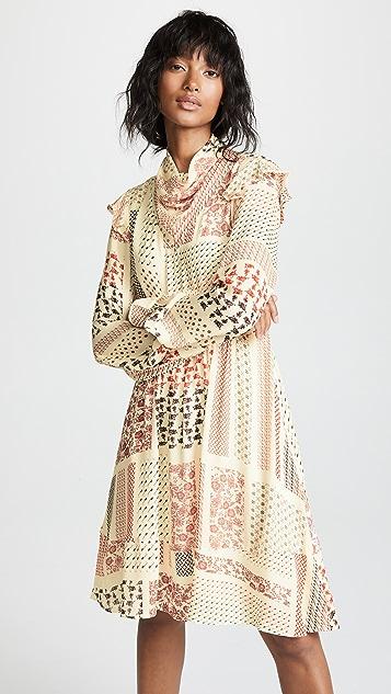 Derek Lam 10 Crosby Платье с остроугольным подолом