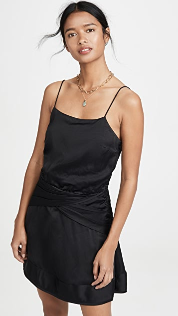 Derek Lam 10 Crosby Cami Flounce Mini Dress with Twist Waist Detail
