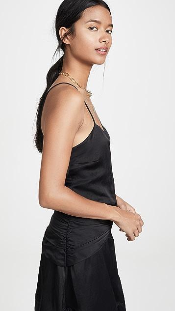 Derek Lam 10 Crosby Мини-платье без рукавов с оборками и перекрученной отделкой на талии