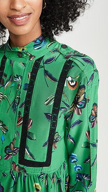Derek Lam 10 Crosby 长袖衣襟衬衣连衣裙