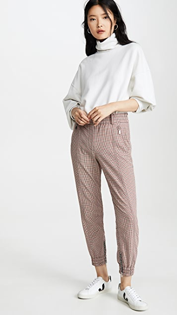 Derek Lam 10 Crosby Checked Jogging Pants