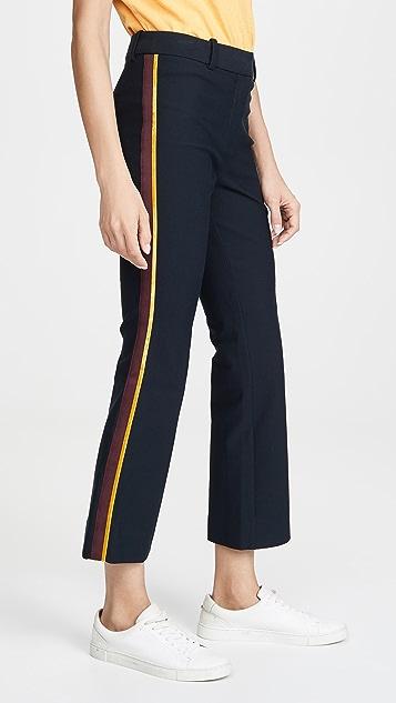 Derek Lam 10 Crosby Расклешенные укороченные брюки