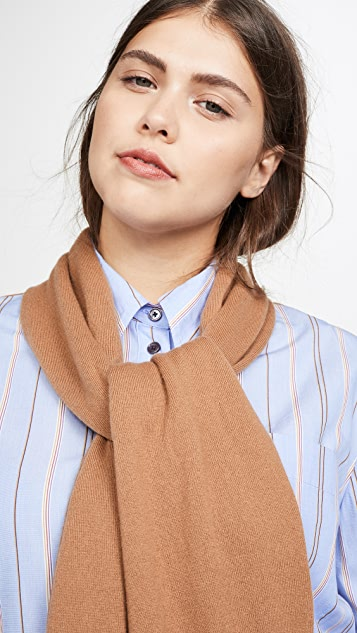 Derek Lam 10 Crosby Button Down Shirt with Knit Scarf