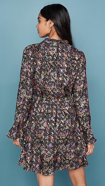 Derek Lam 10 Crosby Платье с оборчатым краем