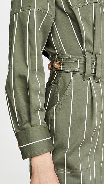 Derek Lam 10 Crosby 实用裹身连衣裙