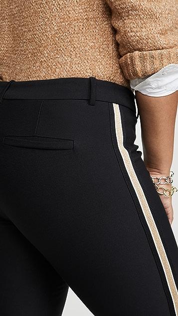 Derek Lam 10 Crosby Расклешенные укороченные брюки Corinna с лампасами