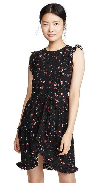Derek Lam 10 Crosby Lyra Belted Ruffle Dress