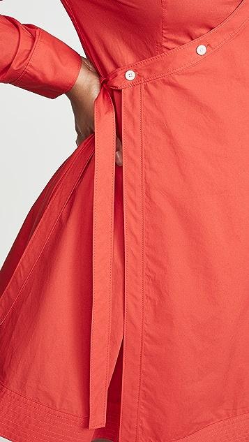 Derek Lam 10 Crosby Petra 裹身衬衣连衣裙
