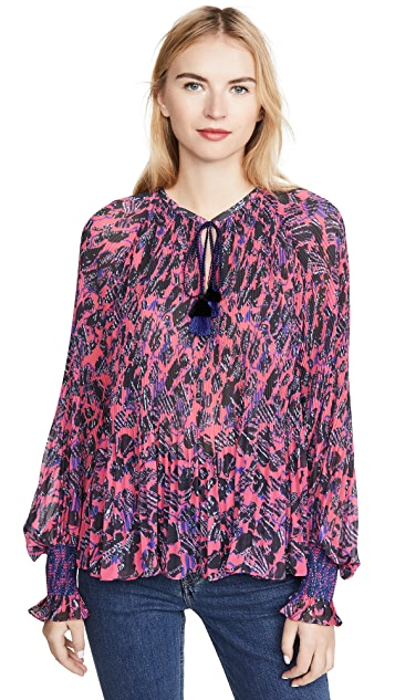Derek Lam 10 Crosby Helena Pleated Blouse
