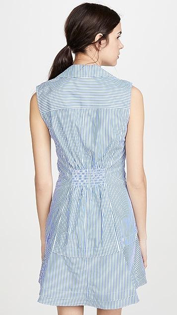 Derek Lam 10 Crosby Satina 无袖衬衣式连衣裙