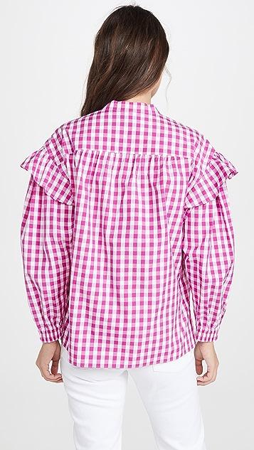 Derek Lam 10 Crosby Kaena 荷叶边女式衬衫