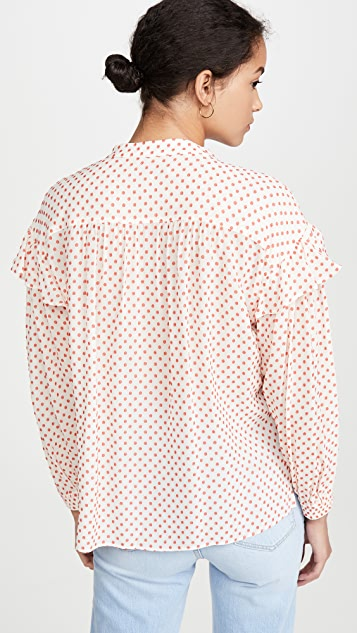 Derek Lam 10 Crosby Kaene 荷叶边女式衬衫