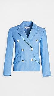 Derek Lam 10 Crosby Myla 双排扣短款西装外套