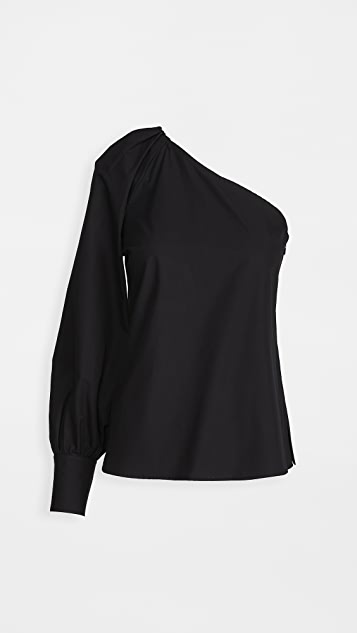 Derek Lam 10 Crosby Elodie One Shoulder Blouse