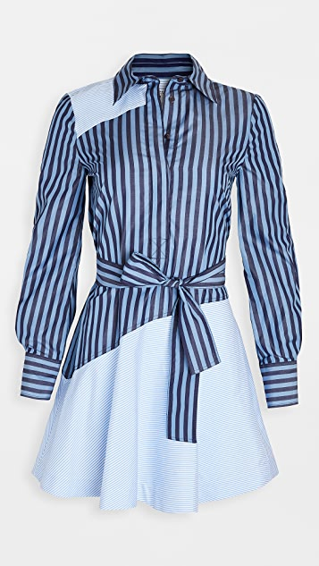 Derek Lam 10 Crosby Flora Assemetrical Shirt Dress