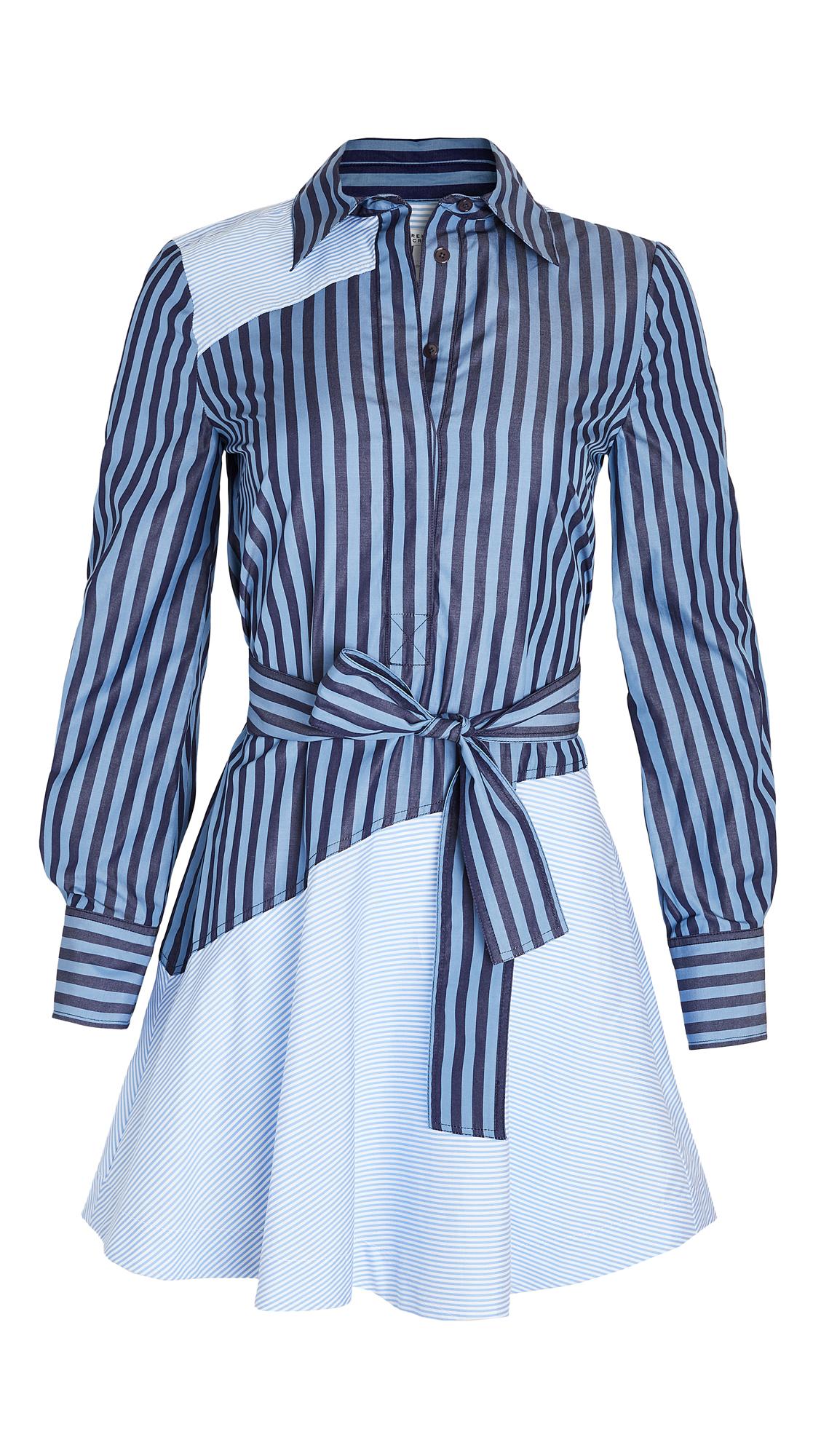 Derek Lam 10 Crosby Flora Assemetrical Shirt Dress