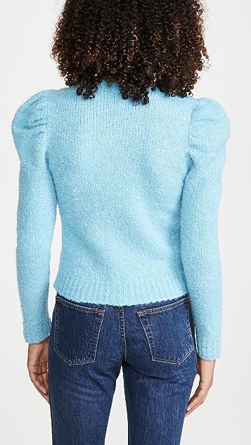 Derek Lam 10 Crosby Locken Puff Sleeve Sweater