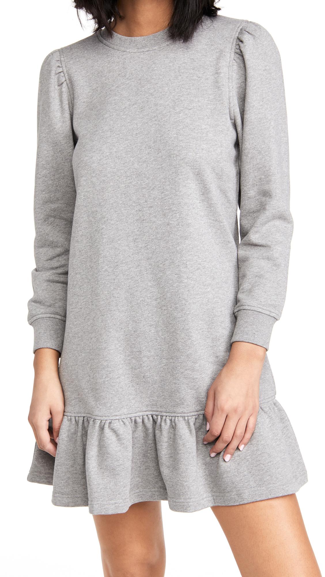 Derek Lam 10 Crosby Caden Sweatshirt Dress With Ruffle Hem