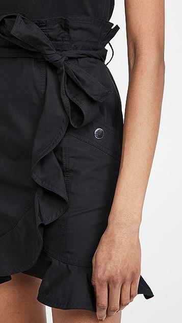 Derek Lam 10 Crosby Hudson Mixed Media T-Shirt Dress