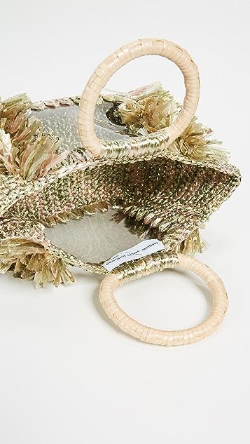 Carolina Santo Domingo Объемная сумка с короткими ручками Corallina Ring