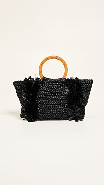 Carolina Santo Domingo Corallina Ring Tote - Black