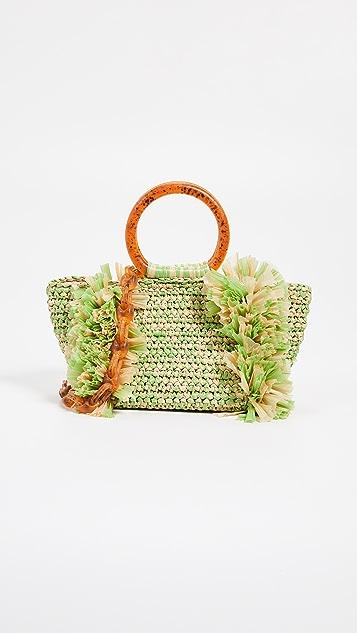 Carolina Santo Domingo Объемная сумка Corallina Santo Domingo с короткими ручками в виде колец