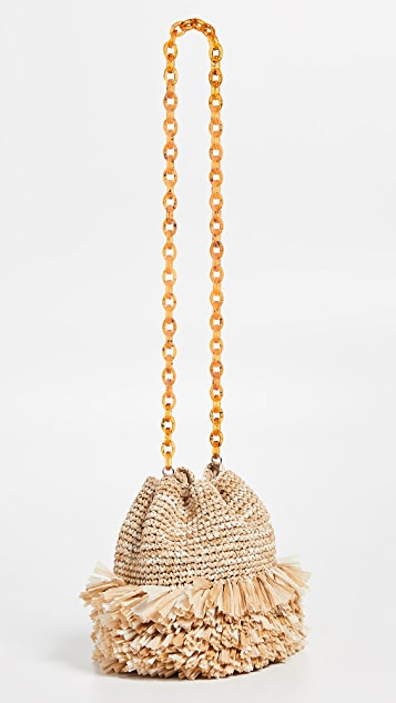 Carolina Santo Domingo Corallina Small Bucket Bag