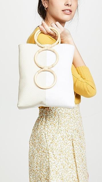 Carolina Santo Domingo Миниатюрная объемная сумка с короткими ручками Petra