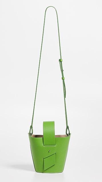 Carolina Santo Domingo Регулируемая миниатюрная сумка через плечо Amphora