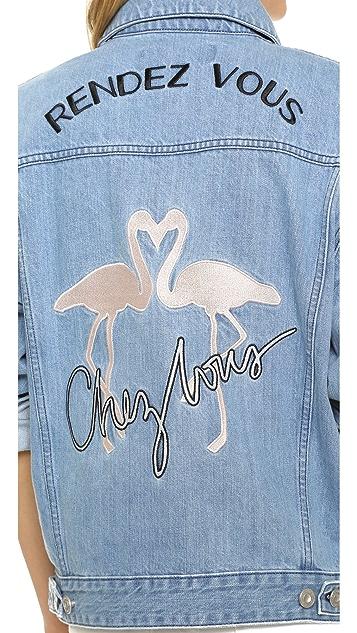 Etre Cecile Flamingo Oversized Jacket