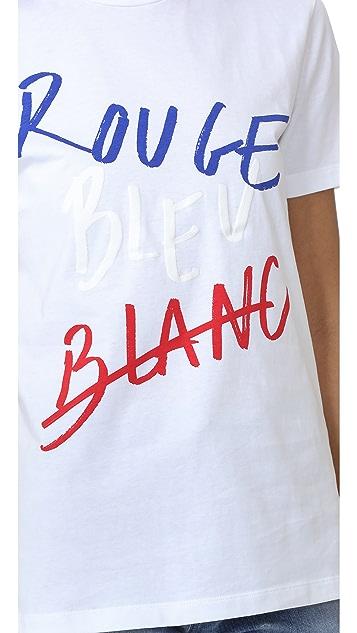 Etre Cecile Rouge Bleu Blanc T-Shirt
