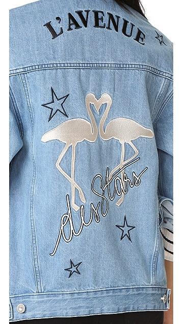 Etre Cecile L'Avenue Des Stars Flamingo Oversized Jacket