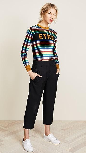 Etre Cecile ETRE Boyfriend Crew Knit Sweater