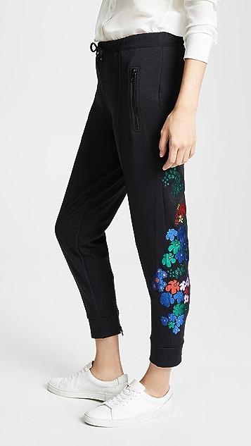 Etre Cecile Pop Floral Crop Track Pants