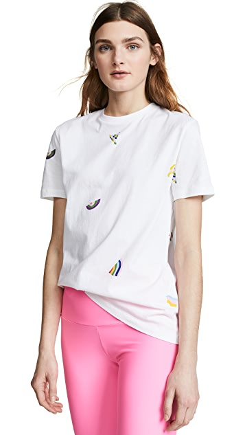 Etre Cecile Wavy Allover T-Shirt