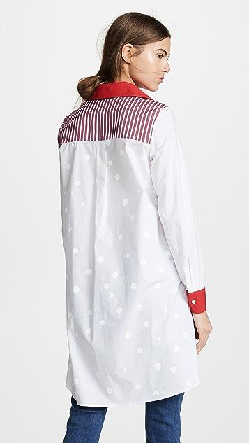 Etre Cecile Yeye Girls Stripe Button Down