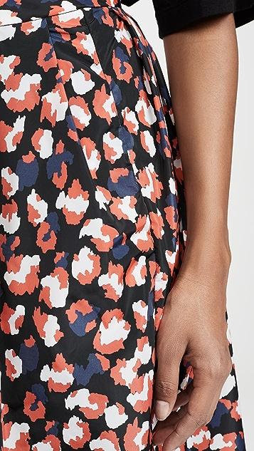 Etre Cecile Leopard Amelie Midi Skirt