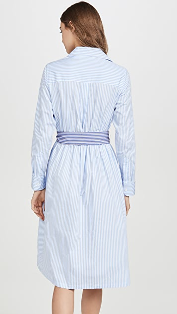 Etre Cecile Платье-рубашка в полоску Lauren