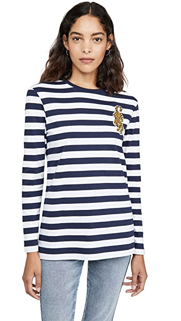 Etre Cecile Badge Breton Long Sleeve T-Shirt