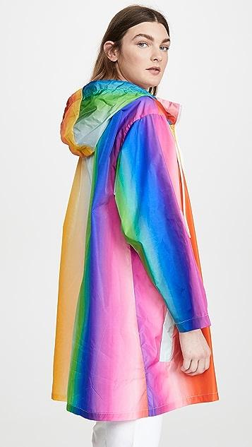 Etre Cecile Rainbow Rain Coat