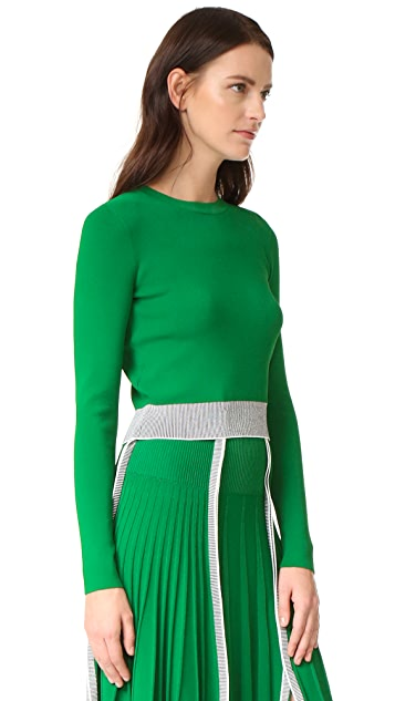 Cedric Charlier Crop Sweater