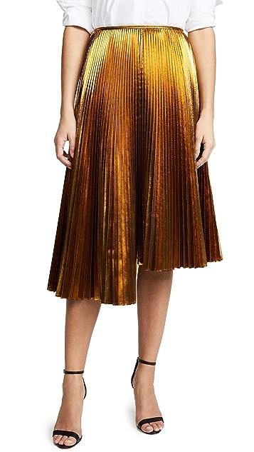 ... Cedric Charlier Metallic Asymmetric Skirt