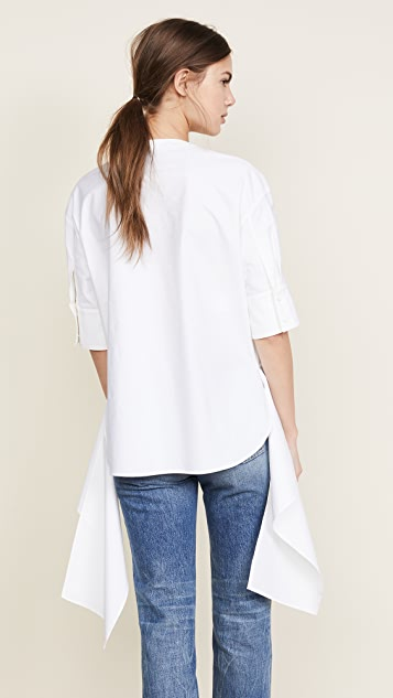 Cedric Charlier Blouse with Zipper