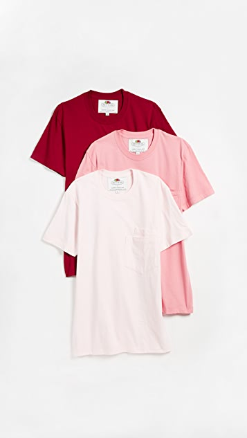 Cedric Charlier x Fruit of the Loom 3 Pack T-Shirt Set