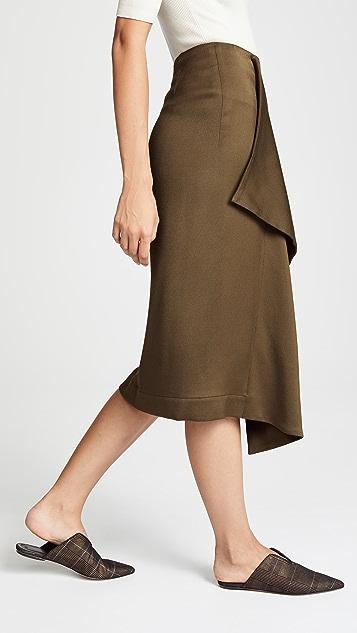 Cedric Charlier Asymmetrical Skirt