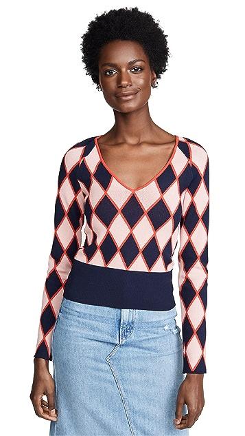 Cedric Charlier Argyle Sweater