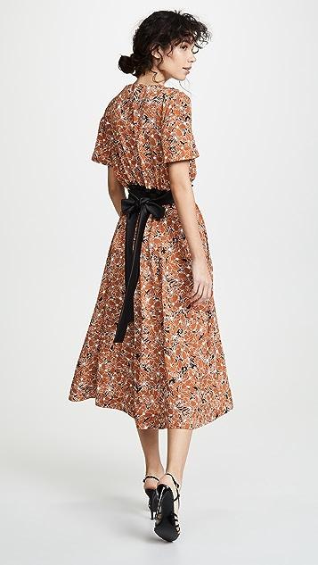 Cedric Charlier Платье с цветочным рисунком